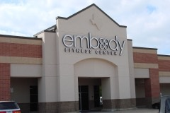 embody fitness center lighted channel letters