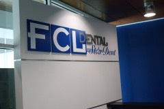 FCL Dental dimensional wall logo