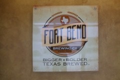 Fort Bend Brewing lobby sign
