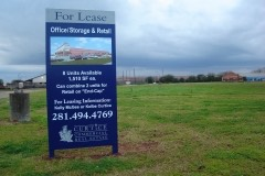 For Lease sign with rendering