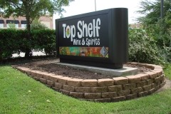 Top Shelf monument sign side view