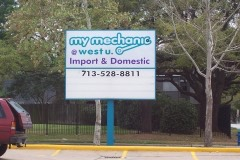 My Mechanic @ West U Pole Sign