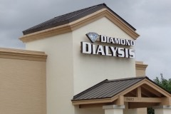 Diamond Dialysis tower wall sign