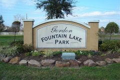 Gordon Fountain Lake Park