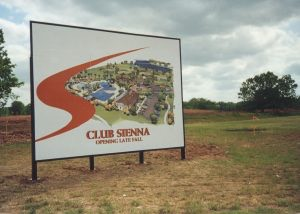 club sienna temp signs